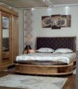 Chambre à coucher meubles kélibia Messelmani bois rouge