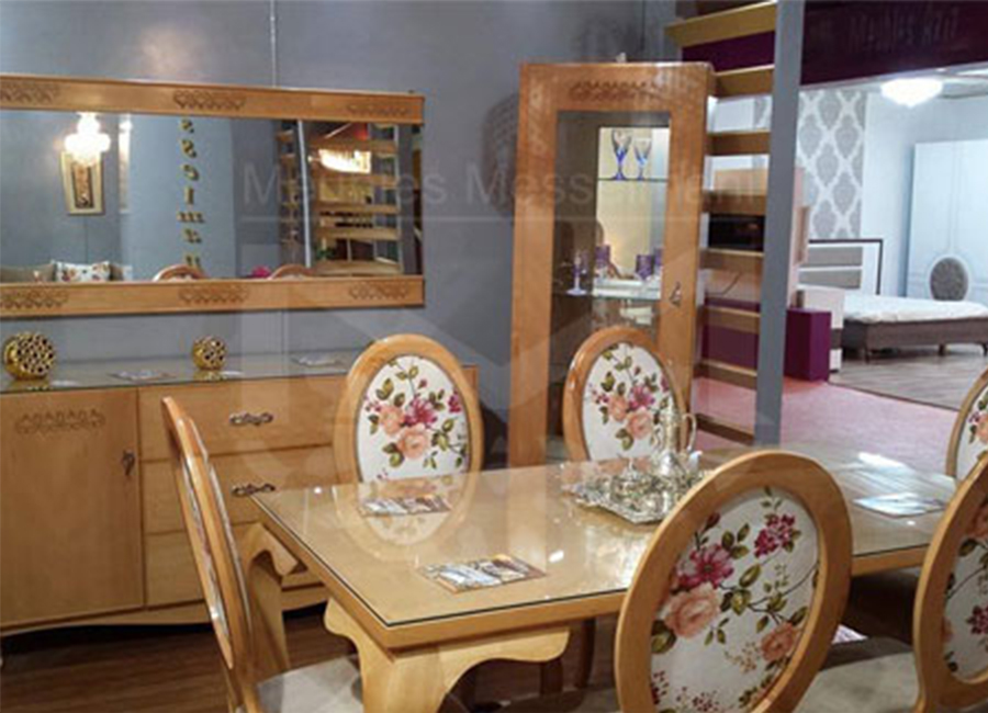 Salle manger ovale fleurie meubles k libia messelmani for Meuble kelibia salon