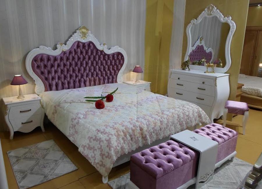 Chambre coucher princesse violette meubles k libia for Meuble kelibia chambre a coucher